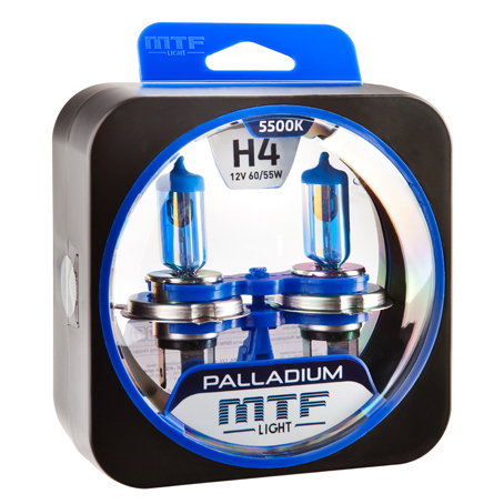 Автолампа MTF Light PALLADIUM H4 5500k 60/55w 12v