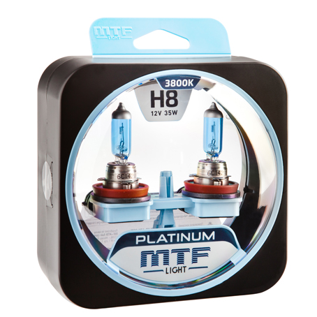 Автолампа MTF Light PLATINUM H8 3800k 35w 12v